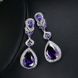 Water Drop Zirconia Earrings