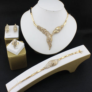 Gold-leaves set