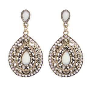 Vintage Bohemian crystal earrings