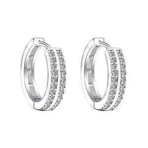 Princess gold/silver crystal hoop earring