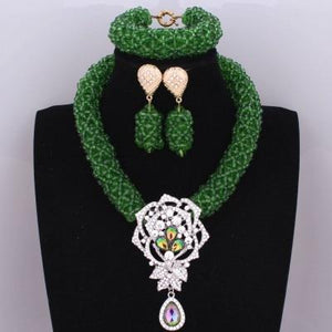 Dubai-style Green Beads Set