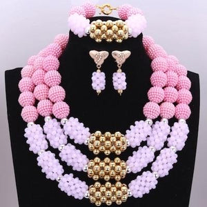 Owalukare Royal Pink Crystal Beads Set