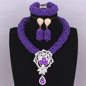 Dubai-style Purple Beads Set