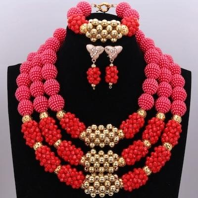 Owalukare Royal Red Crystal Beads Set