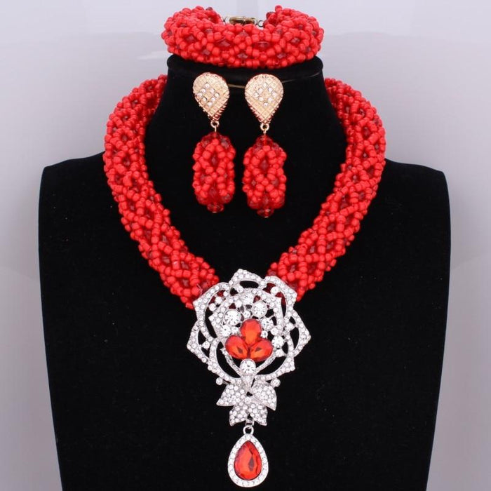Dubai-style Red Beads Set