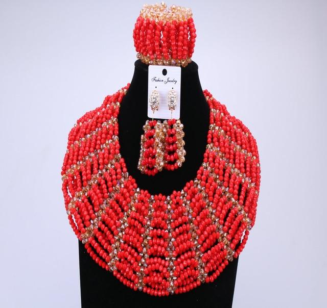 Benin Queen Red Beads Set