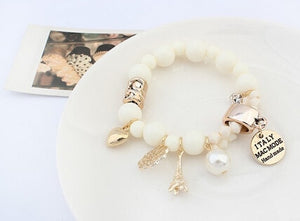 Crystal charms bracelet