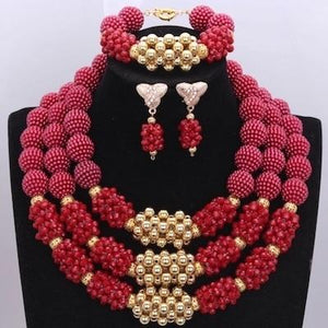 Owalukare Royal Wine Crystal Beads Set