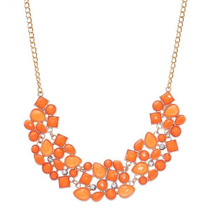 Gem statement necklace.