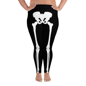 Women's Plus Size Skeleton Leggings