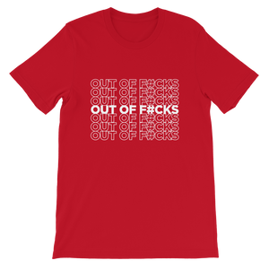 Out of F#cks (White) / Unisex Short-Sleeve T-Shirt