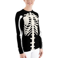 Load image into Gallery viewer, Women's Skeleton Rash Guard