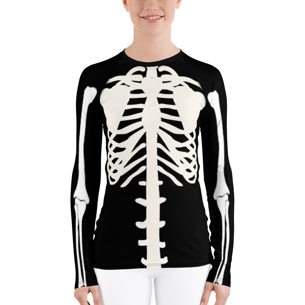 Women's Skeleton Rash Guard