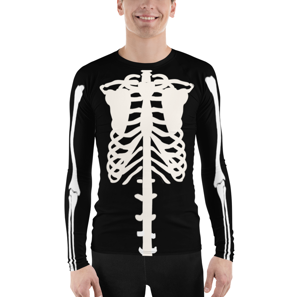 Guys' Skeleton Rash Guard