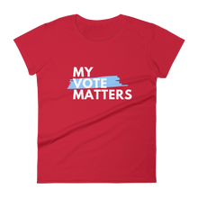 Load image into Gallery viewer, My Voter Matters (WHT) / Women's Short Sleeve T-shirt