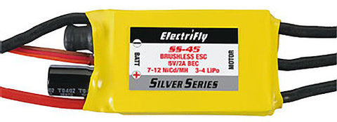 ElectriFly Silver Series 45A Brushless ESC 5V/2A BEC