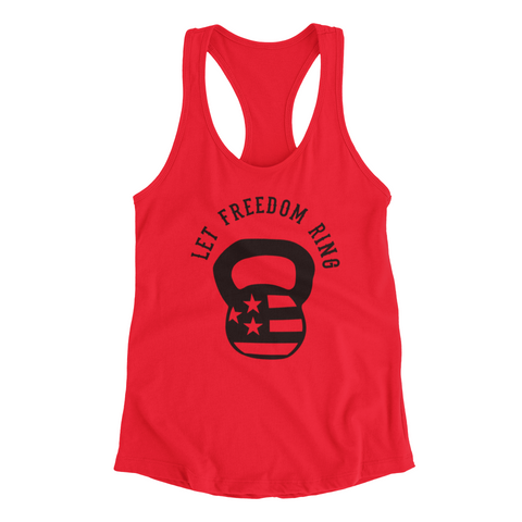 Let Freedom  Ring Kettlebell - Racerback Tank top