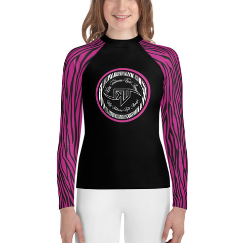 Zebra Youth Rash Guard