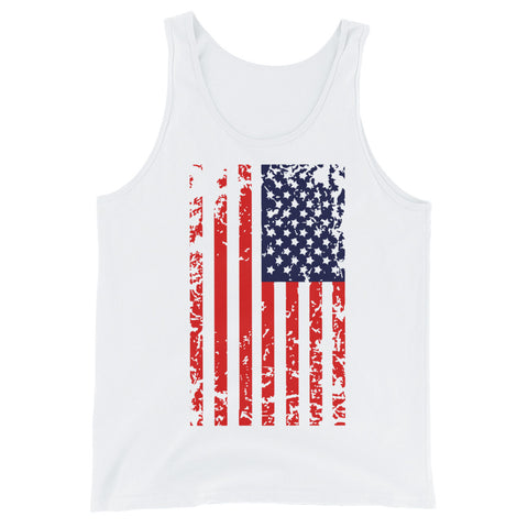 American Flag Vertical  - Unisex Tank Top