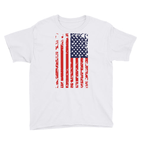 American Flag Vertical - Youth Short Sleeve T-Shirt