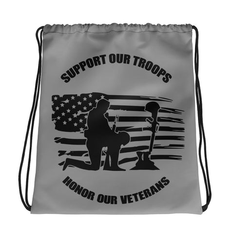 Support Our Troops - Drawstring bag