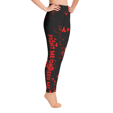 FIGHT ME OR FEED ME - WOMEN'S PERFORMANCE LEGGINGS