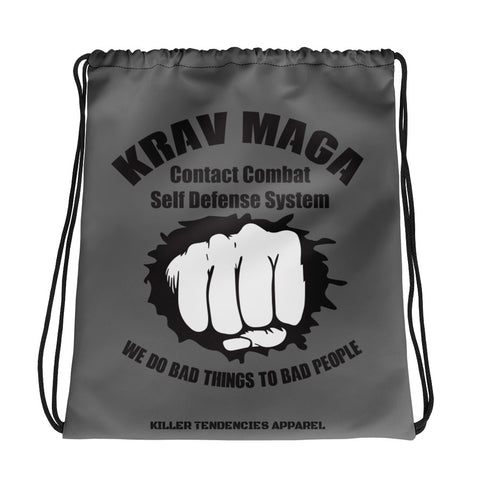 Krav Maga Contact Combat Self Defense System - Drawstring bag