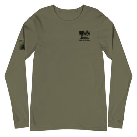 Support Our Troops - Unisex Long Sleeve Tee