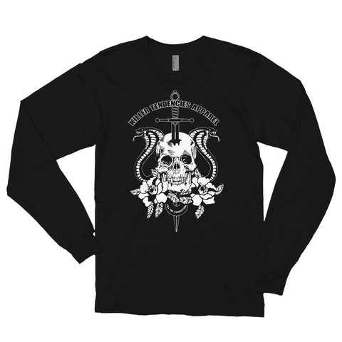 Skull and Cobras - Long sleeve unsiex t-shirt