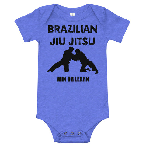 Brazilian Jiu Jitsu Win or Learn - Baby Bodysuit