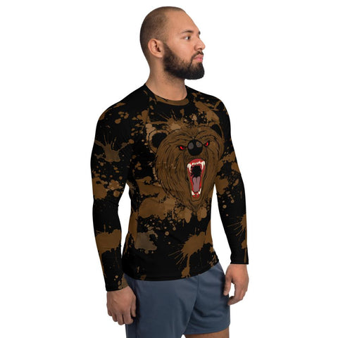 Brown Bear: Semi-customizable - Men's Rash Guard