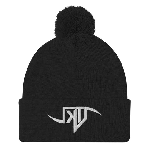 KILLER TENDENCIES SCYTHE LOGO -- Pom-Pom Beanie