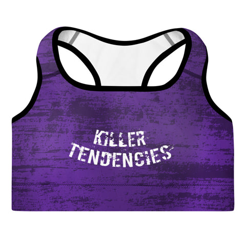 The Purple Grunge - Padded Sports Bra