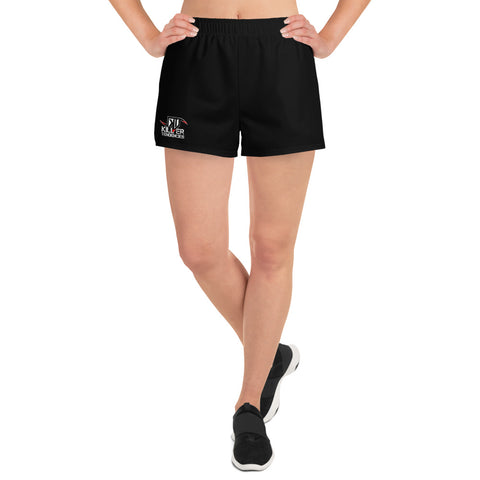 Killer Tendencies Scythe Logo -Women's Athletic Short Shorts