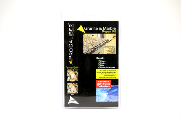 Granite & Marble Chip Repair Paste Kit - Pro Size Clear LCA