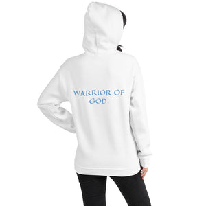Women's Hoodie- WARRIOR OF GOD - White / S