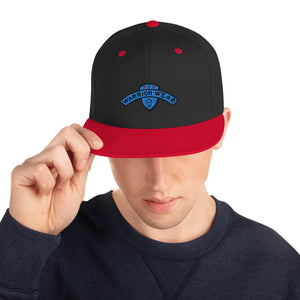 Men's Snapback Hat - Black/ Red