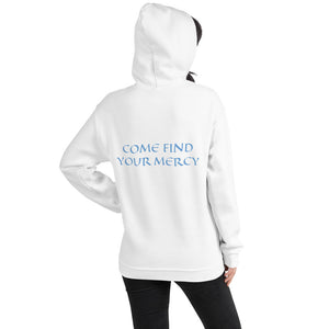 Women's Hoodie- COME FIND YOUR MERCY - White / S