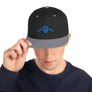 Men's Snapback Hat - Black/ Silver