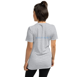 Women's T-Shirt Short-Sleeve- JESUS RULES - Sport Grey / S