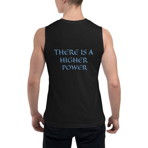 Men's Sleeveless Shirt- THERE IS A HIGHER POWER -