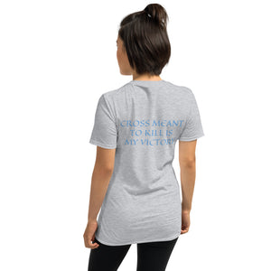 Women's T-Shirt Short-Sleeve- CROSS MEANT TO KILL IS MY VICTORY - Sport Grey / S
