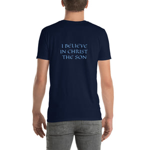 Men's T-Shirt Short-Sleeve- I BELIEVE IN CHRIST THE SON - Navy / S