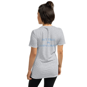 Women's T-Shirt Short-Sleeve- SET FREE IN GOD'S GRACE - Sport Grey / S