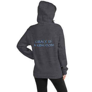 Women's Hoodie- GRACE IS A KINGDOM - Dark Heather / S