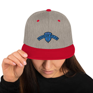 Women's Snapback Hat - Heather Grey/ Red