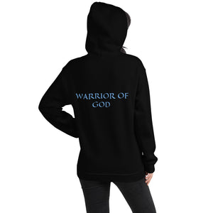 Women's Hoodie- WARRIOR OF GOD - Black / S