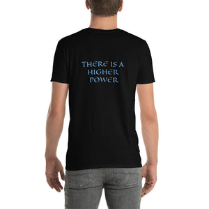 Men's T-Shirt Short-Sleeve- THERE IS A HIGHER POWER - Black / S