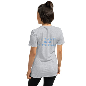 Women's T-Shirt Short-Sleeve- HEAVEN IS REAL DEATH IS A LIE - Sport Grey / S