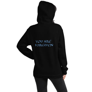 Women's Hoodie- YOU ARE FORGIVEN - Black / S